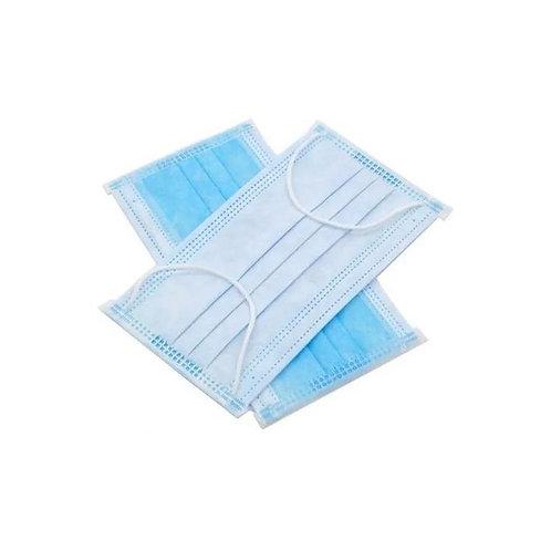 Cubrebocas Quirúrgico 3 capas (Paq c/50 piezas)