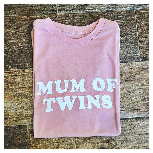 T SHIRT MUM OF TWINS