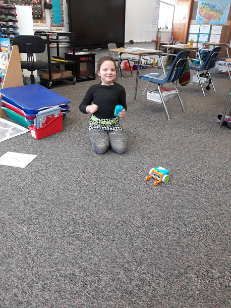 Mrs. Wallace's Class coding Botley the Robot