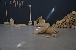 דינה שנהב פרט מתוך התערוכה D.O.A -   צילום רעי רביב