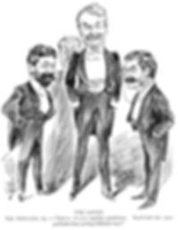D'Oyly Carte, Gilbert, Sullivan, Richard D'Oyly Carte, W.S. Gilbert, Sir Arthur Sullivan, conductor, librettist, playwright, The Savoy, The Savoy Theatre, The Savoy Hotel, The Entracte, gentlemen, Victorian, The D'Oyly Carte Opera Company, monocle, tuxedos, mustaches, The Pirates of Penzance, H.M.S. Pinafore, Patience, The Mikado,