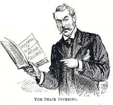 W.S. Gilbert, the peace offering, Victorian, Gilbert and Sullivan, London, The Savoy, The D'oyly Carte Opera Company, librettist, director, playwright, The Garrick Club, theatre, The Pirates of Penzance, The Mikado, Ruddigore, Patience, Sweethearts, H.M.S. Pinafore, Utopia Limited, Princess Ida