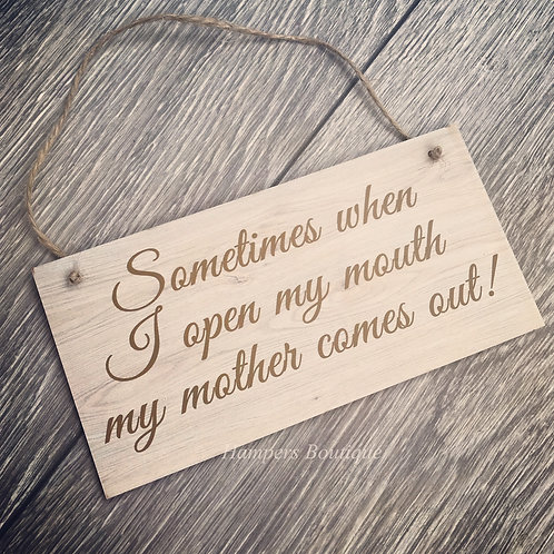 Sometimes when I open my mouth plaque