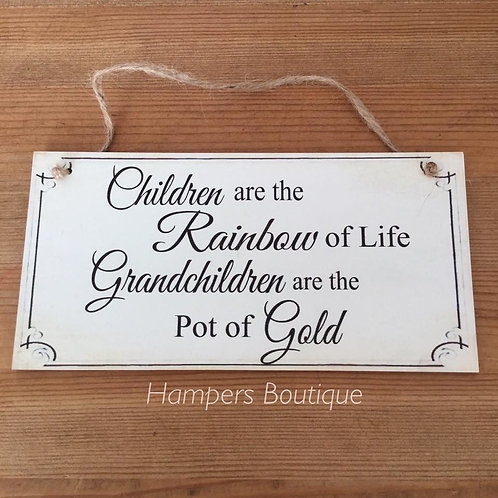 Children are the rainbow of life plaque