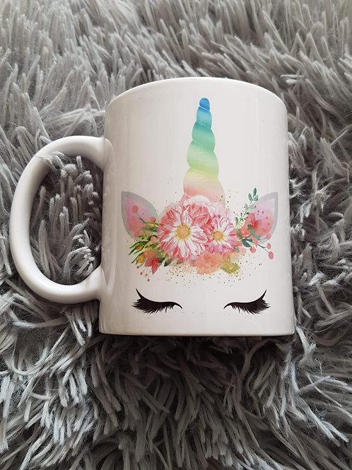 Sleeping unicorn mug