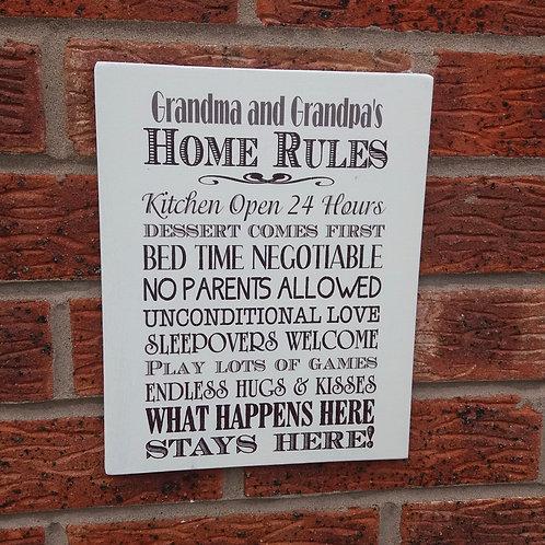 Grandparent's home rules