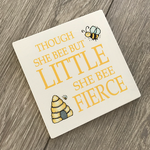 Though she bee but little plaque