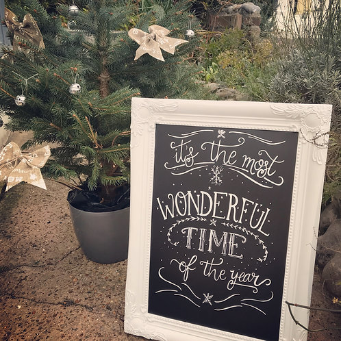 It's the most wonderful time of the year chalkboard