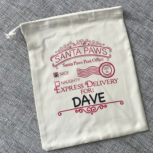 Santa paws treat bag