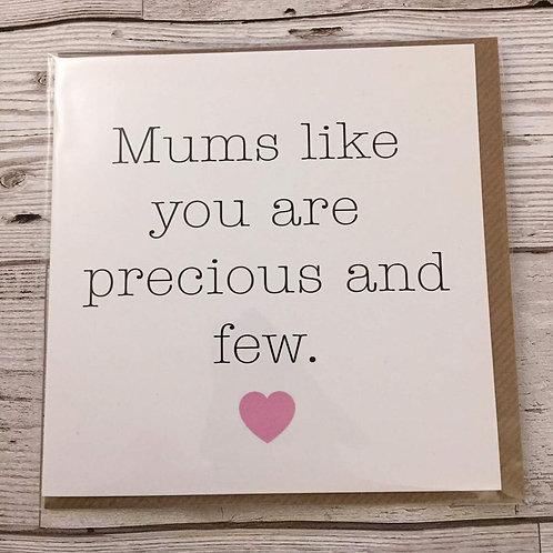 Mums like you card