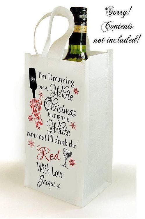 I'm dreaming of a white Christmas bottle bag