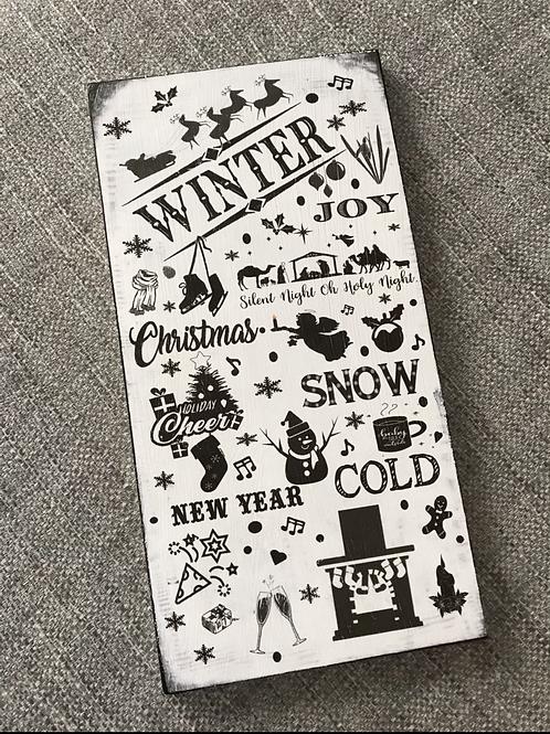 Winter plaque