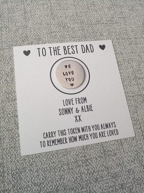 Best dad pocket token