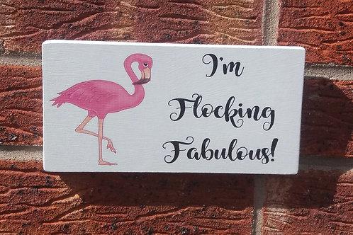 I'm flocking amazing plaque