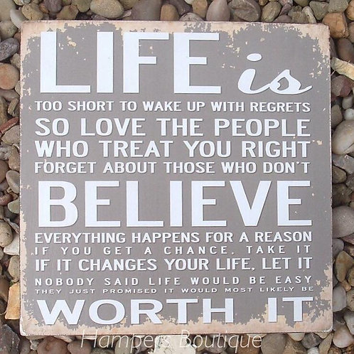 Life is plaque