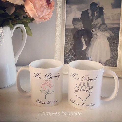 His beauty her beast mug set