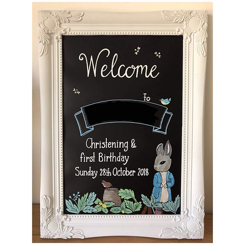 Hand painted chalkboard