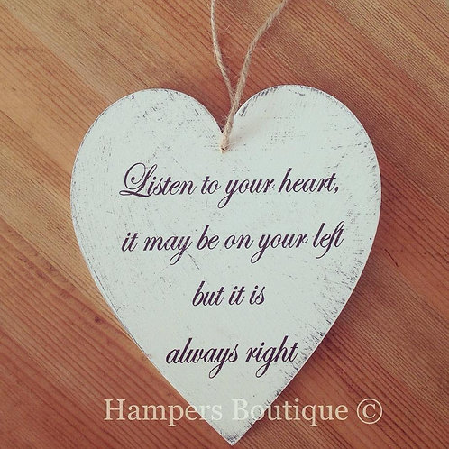 Listen to your heart  plaque