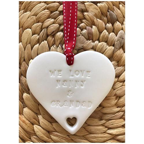 We love clay heart