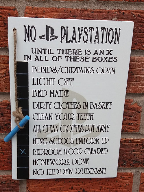PlayStation x in all boxes plaque