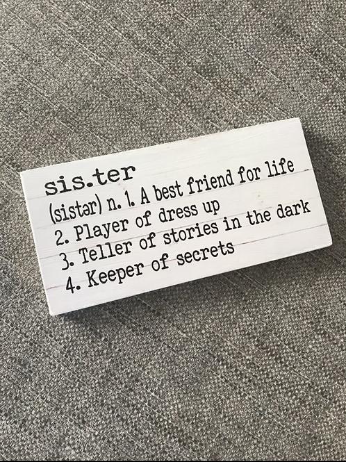 Sister plaque