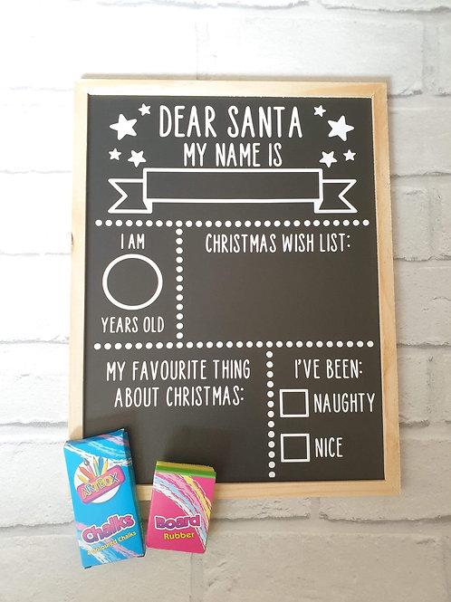 Dear Santa board