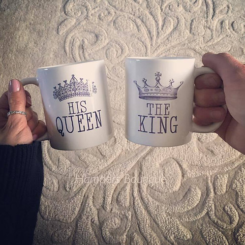 His Queen and The king mug set
