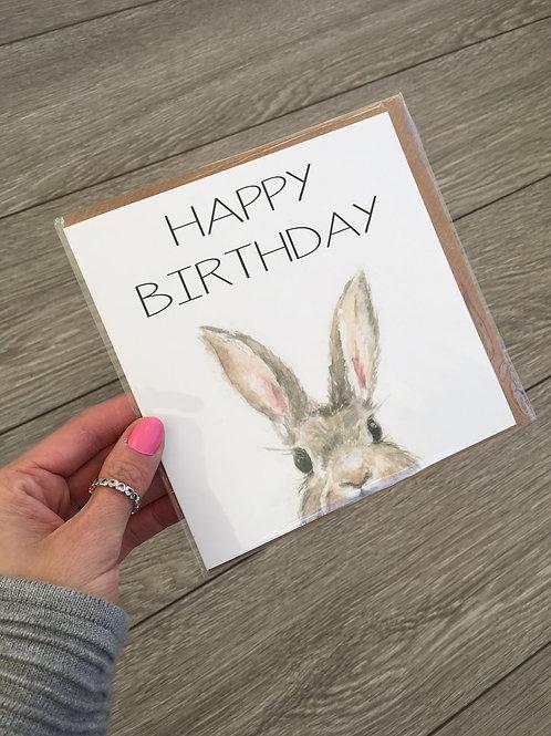 Happy birthday bunny card