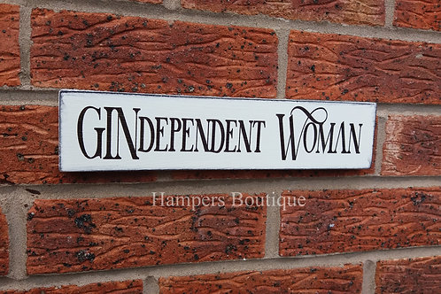 GINdependent woman plaque