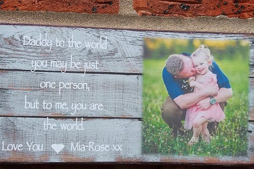 Dad to the world photo plaque