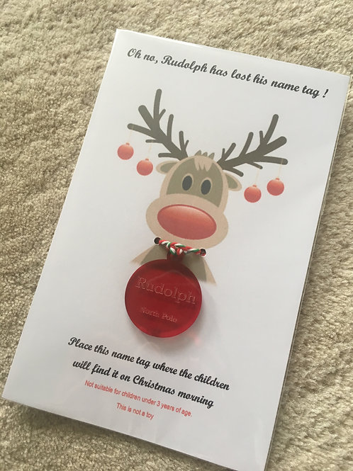 Rudolph name tag