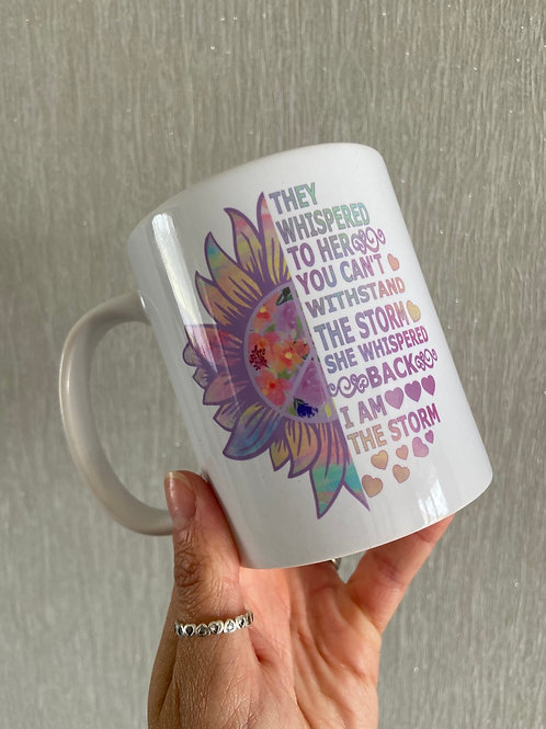 I am the storm mug