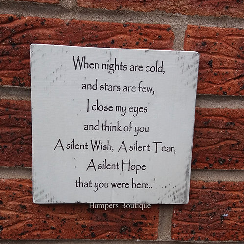 When nights are cold plaque
