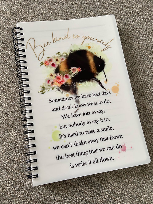 Bee kind to yourself notebook
