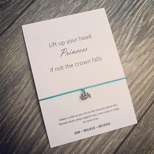 Lift up your head princess wish bracelet
