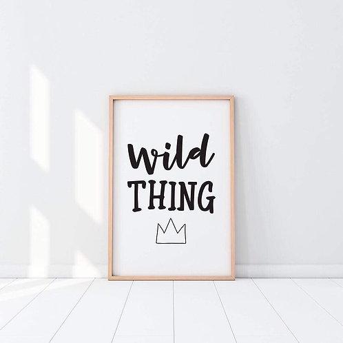 Wild thing print