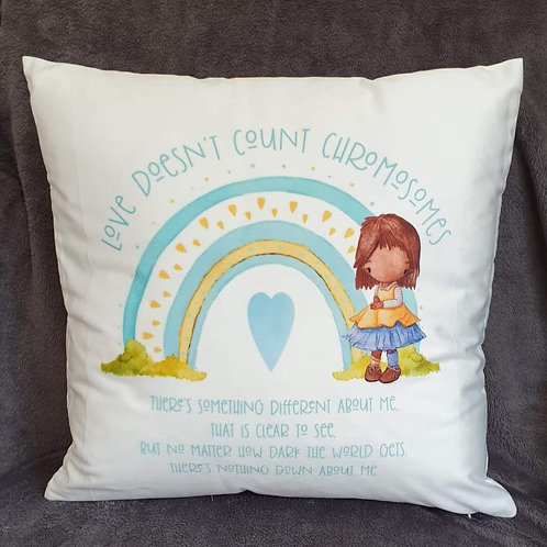 Love doesn't count chromosomes cushion