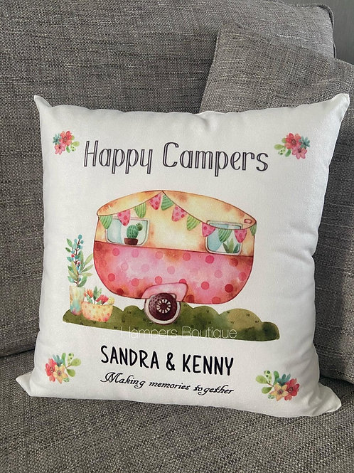 Happy campers cushion
