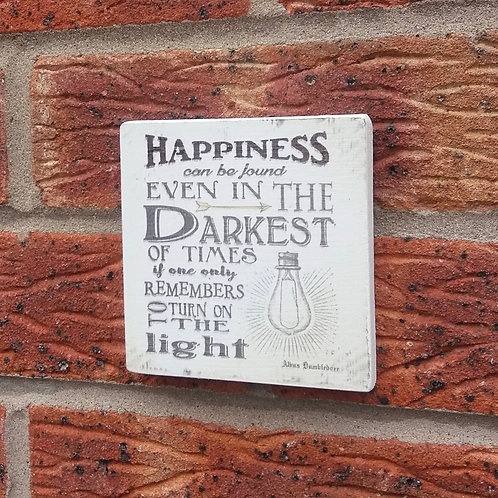 Happiness can be found plaque
