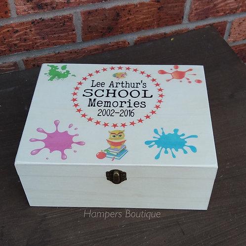 School memories keepsake box