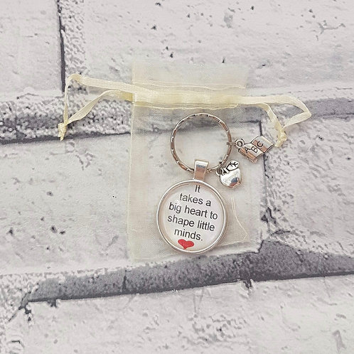 It takes a big heart keyring with charms