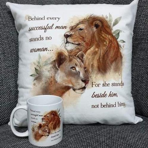 Lion design mug