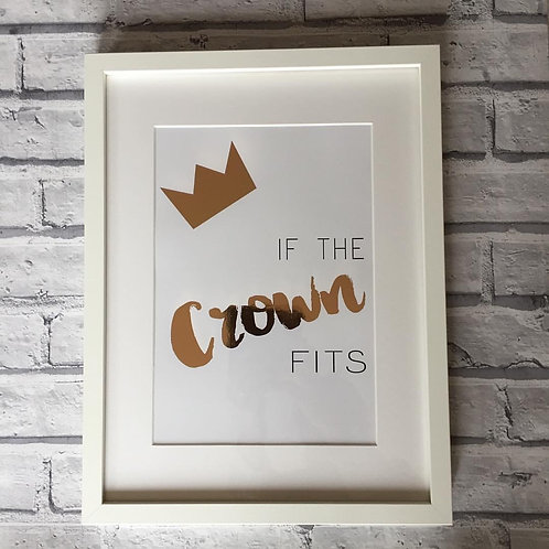 If the crown fits print