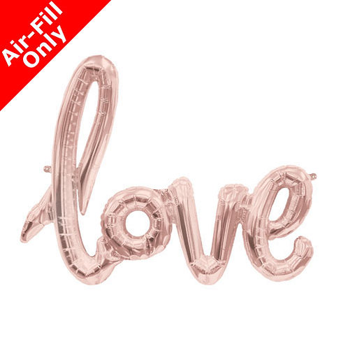 Rose gold foil balloon