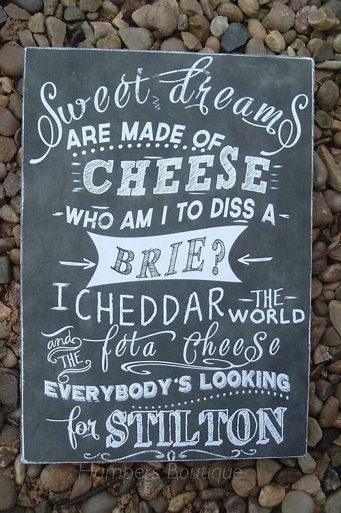 Sweet dreams are made of cheese plaque