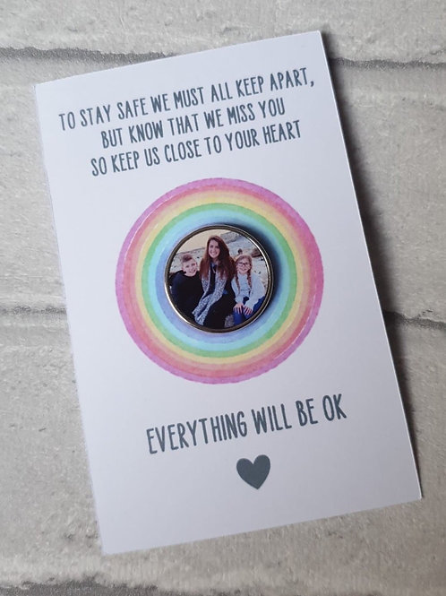 Everything will be ok photo badge