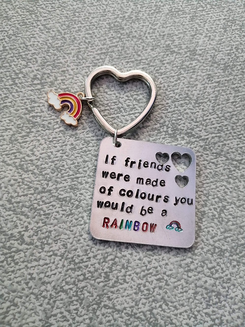 If friends were made of colours keyring
