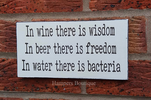 In wine there is wisdom plaque