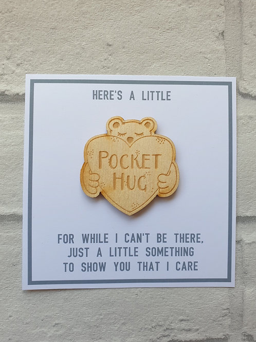 Wooden pocket hug