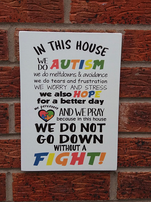 In this house we do autism